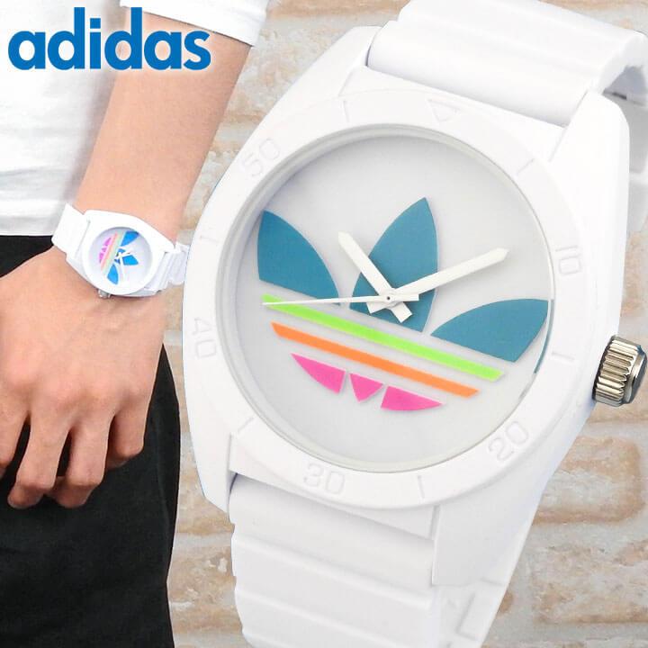 アディダス adidas オリジナルス originals サンティアゴ SANTIAGO メンズ レディース 白 ピンク 腕時計 時計 カジュアル ウォッチ ホワイト マルチカラー 海外モデル ADH2916 誕生日プレゼント 男性 女性 ギフト
