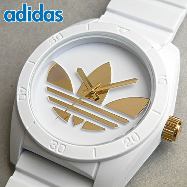 アディダス adidas オリジナルス originalsサンティアゴ SANTIAGO 白 ホワイト×イエローゴールドトメンズ レディース レフォイル ユニセックス 腕時計時計ペア 海外モデル ADH2917 誕生日プレゼント 男性 女性 ギフト