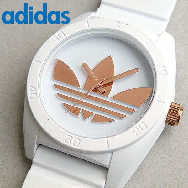 【送料無料】アディダス adidas originals オリジナルス サンティアゴ SANTIAGO 時計 白 メンズ レディース 腕時計 ホワイト ローズゴールド ピンクゴールド 海外モデル ADH2918 誕生日プレゼント ギフト