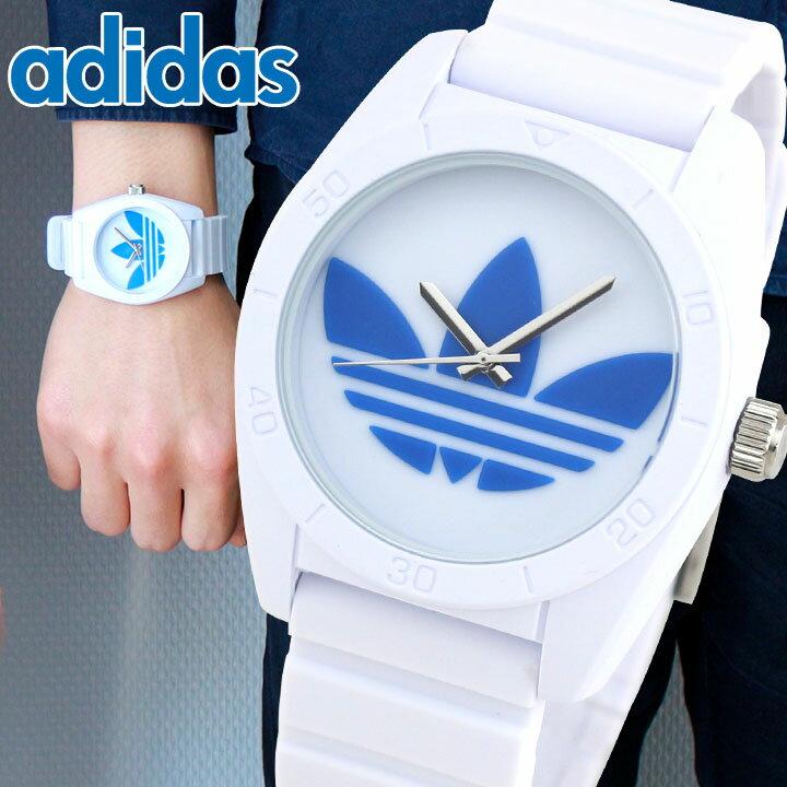 アディダス adidas オリジナルス originals サンティアゴ SANTIAGO 白 青 メンズ レディース ホワイト ブルー トレフォイル ユニセックス 腕時計 新品 時計 海外モデル ADH2921 誕生日プレゼント 男性 女性 ギフト 母の日