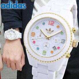 366dbe4f04 【送料無料】アディダス adidas originals ADH2945 メンズ レディース 腕時計 白 ホワイト 金 ゴールド クロノ