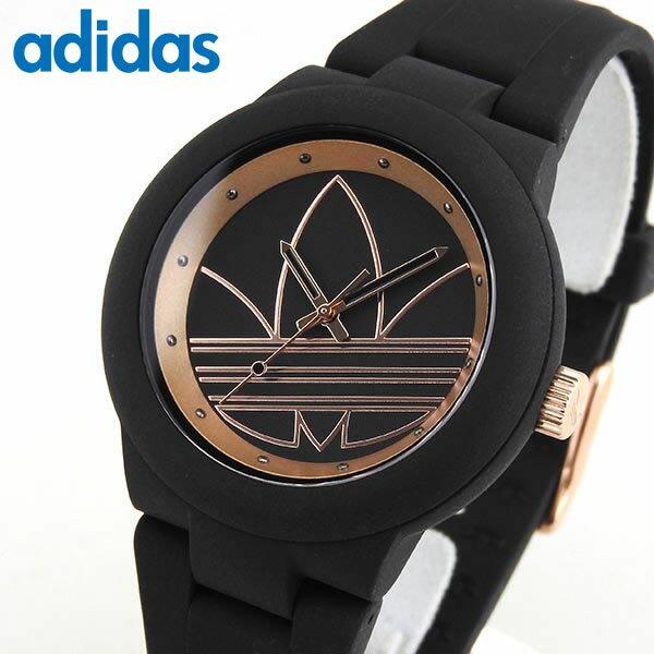 adidas アディダス かわいい 時計 ブラック ローズゴールド ABERDEEN アバディーン ランニング ADH3086 海外モデル レディース 腕時計 黒 ピンクゴールド 誕生日プレゼント 女性 ギフト