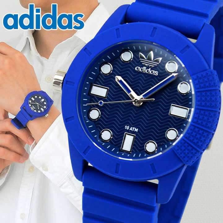 アディダス adidas 腕時計 SUPER STAR スーパースター メンズ 時計 青 ブルー シリコン ラバー バンド クオーツ アナログ ADH3103 海外モデル 誕生日プレゼント 男性 ギフト
