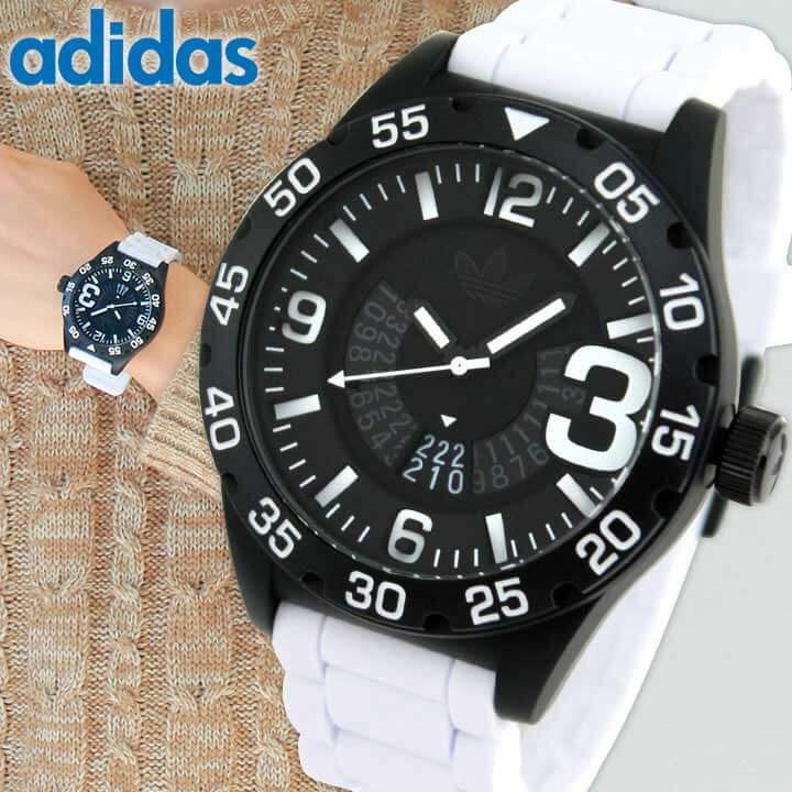 【送料無料】adidas アディダス originals オリジナルス NEWBURGH ニューバーグ 黒 白 メンズ 腕時計 ウォッチ 防水 カジュアル ブラック ホワイト シリコン バンド ADH3136 誕生日プレゼント 男性 ギフト