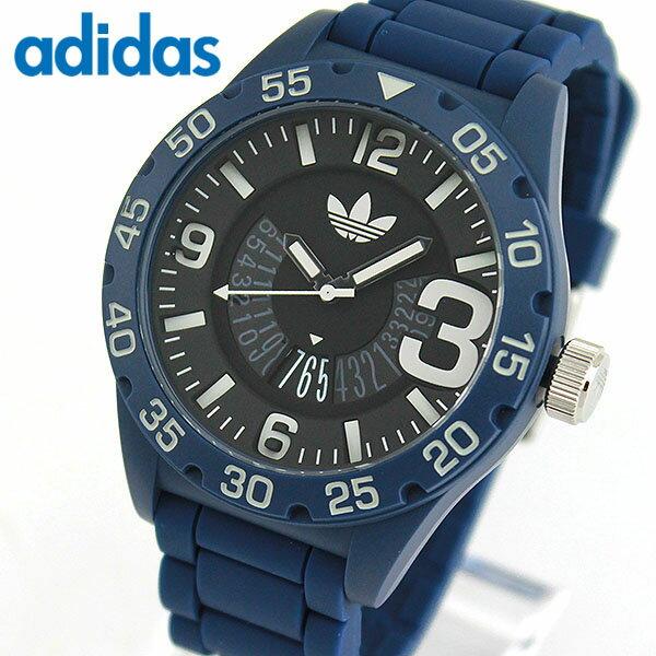 adidas アディダス originals オリジナルス NEWBURGH ニューバーグ メンズ 腕時計 ウォッチ 防水 カジュアル 黒 ブラック 青 ブルー シリコン バンド ADH3141 誕生日プレゼント 男性 バレンタイン ギフト