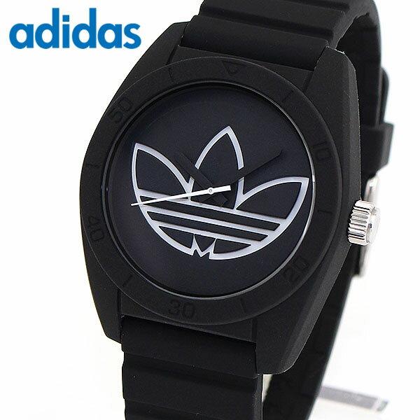 【送料無料】 adidas アディダス SANTIAGO サンティアゴ 腕時計 メンズ シリコン ラバー クオーツ アナログ 黒 ブラック 海外モデル ADH3189 誕生日プレゼント 男性 ギフト