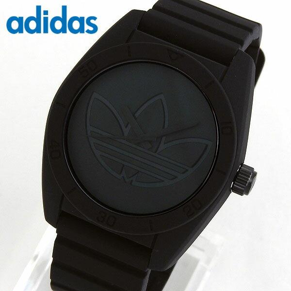adidas アディダス SANTIAGO サンティアゴ メンズ 腕時計 黒 ブラック シリコン ラバー バンド カジュアル クオーツ アナログ ADH3199 海外 誕生日プレゼント 男性 父の日ギフト