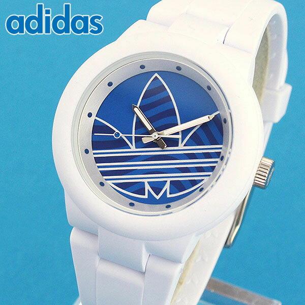 【送料無料】adidas アディダス ABERDEEN アバディーン メンズ レディース 腕時計 白 ホワイト 青 ブルー 男女兼用 ユニセックス 海外モデル ADH3206 シリコン ラバー バンド クオーツ カジュアル 誕生日プレゼント 女性 男性 ギフト