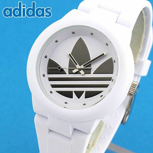 【送料無料】adidas アディダス ABERDEEN アバディーン 海外モデル メンズ レディース 腕時計 白 ホワイト シルバーブラック 男女兼用 ユニセックス シリコン ラバー バンド クオーツ カジュアル アナログ ADH3208 誕生日プレゼント 男性 女性