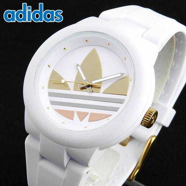 adidas アディダス かわいい 時計 白 ゴールド ランニング ABERDEEN アバディーン ADH9083 海外モデル レディース 腕時計 ホワイト シルバー イエローゴールド 誕生日プレゼント 女性 ギフト