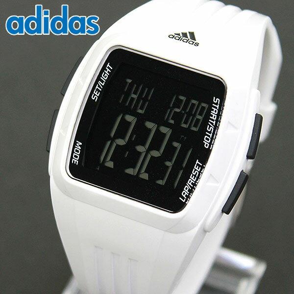 adidas アディダス DURAMO MID デュラモ ミッド Performance パフォーマンス 黒 白 デジタル メンズ レディース 腕時計 男女兼用 ユニセックス ウレタン バンド クオーツ ブラック ホワイト ランニング スポーツ 海外モデル ADP3263 誕生日プレゼント ギフト