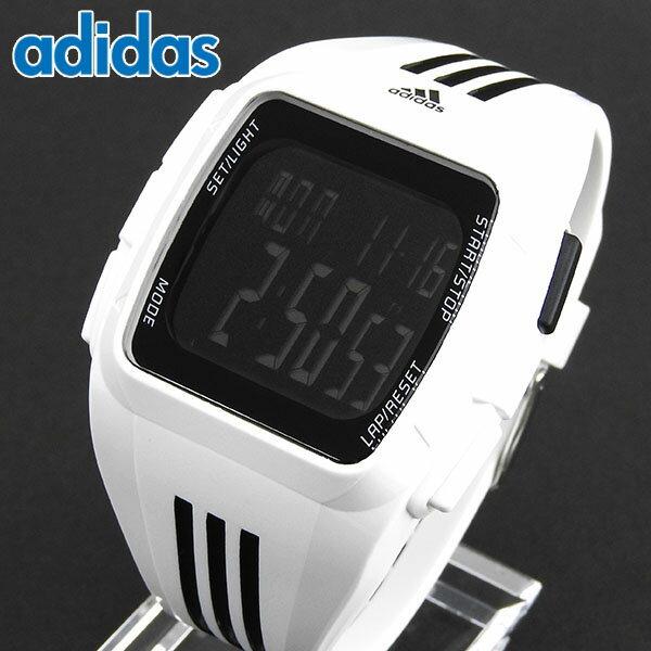 【送料無料】adidas アディダス DURAMO デュラモ ADP6091 海外モデル メンズ 腕時計 ランニング ウォッチ ラバー バンド クオーツ デジタル 黒 ブラック 白 ホワイト スポーツ 誕生日プレゼント ギフト