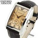 ★送料無料 EMPORIO ARMANI エンポリオアルマーニ メンズ 腕時計 時計 watch ウォッチ 濃茶 ブラウン 革ベルト レザー…