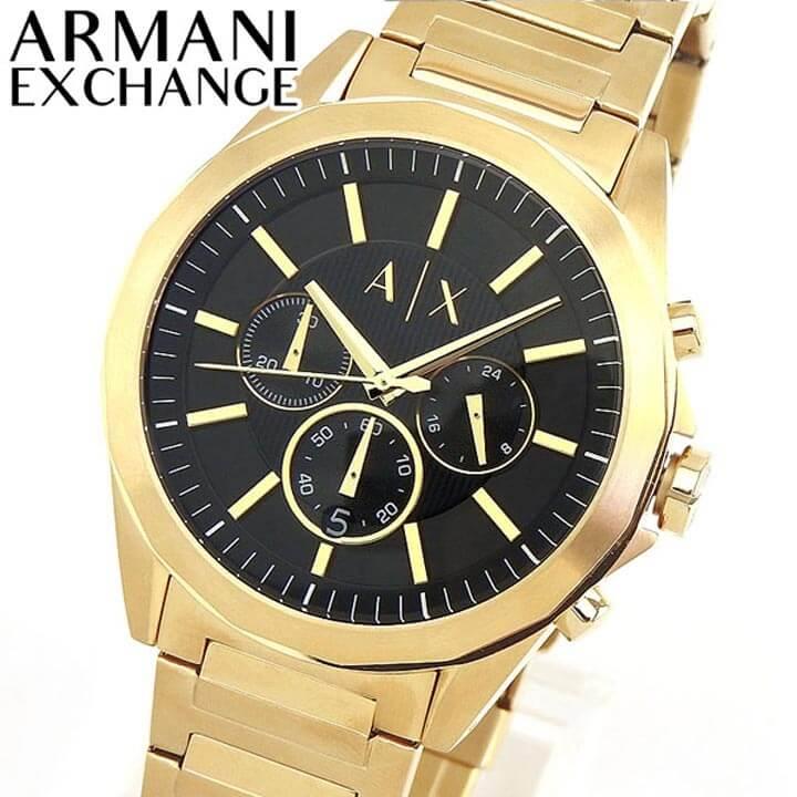 【送料無料】ARMANI EXCHANGE アルマーニ エクスチェンジ DREXLER ドレクスラー AX2611 メンズ 腕時計 メタル クロノグラフ カレンダー クオーツ アナログ 黒 ブラック 金 ゴールド 誕生日プレゼント 男性 ギフト 海外モデル