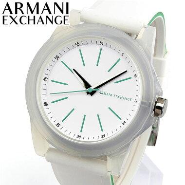 ARMANIEXCHANGEアルマーニエクスチェンジAX4359レディース腕時計シリコンラバー白ホワイト緑グリーン誕生日プレゼント女性ギフト海外モデル
