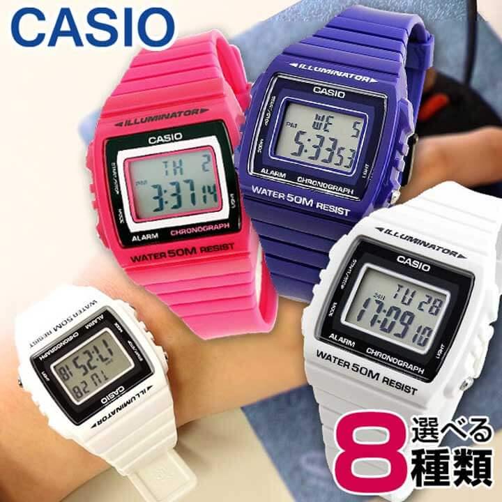 汎用ボックス 3ヶ月保証 CASIO チープカシオ チプカシ スタンダード BASIC ベーシック CASIO-W-215H 海外モデル ユニセックス 男女兼用 メンズ レディース 腕時計 ウォッチ カジュアル デジタル 誕生日プレゼント 男性 女性 ギフト