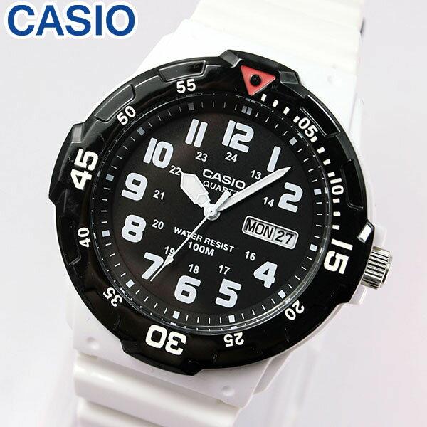 【3ヶ月保証】専用BOXなし CASIO チープカシオ チプカシ スタンダード MRW-200HC-7B 海外モデル メンズ 腕時計 時計 クオーツ アナログ ホワイト ブラック 白 黒 誕生日プレゼント 男性 ギフト