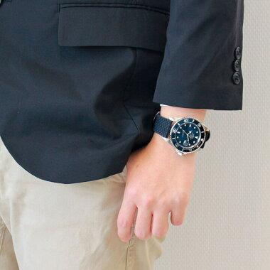 【スペアバンド付き】CharlesVogeleシャルルホーゲルダイバーズデザイン時計CV-9085メンズ腕時計ブランド黒ブラック青ブルー緑グリーン赤レッドネイビー20気圧防水カレンダー誕生日男性ギフトプレゼント