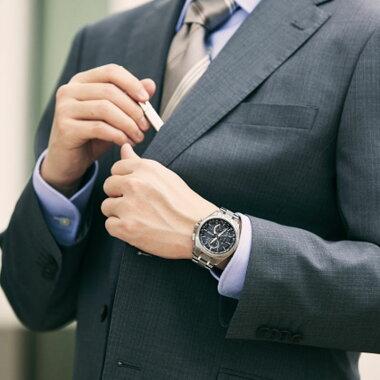 時計拭きクロス付き★送料無料CITIZENシチズンATTESAアテッサメンズ腕時計時計電波ソーラーAT8040-57E黒ブラックエコ・ドライブ電波時計ダイレクトフライト誕生日ギフト