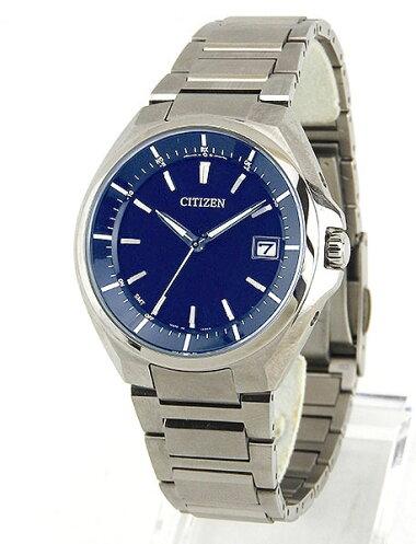CITIZENシチズンATTESAアテッサCB3010-57L国内正規品メンズ男性用腕時計ウォッチチタンメタルバンドエコドライブ電波アナログ青ネイビー
