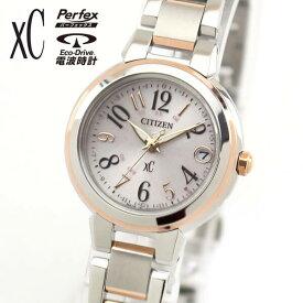 【ミニバッグ付き】シチズン クロスシー エコドライブ 電波 ハッピーフライト 腕時計 レディース CITIZEN xC ES9434-53X 国内正規品 シルバー ピンクゴールド ギフト ブランド