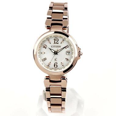 シチズンクロスシーエコドライブ電波ハッピーフライト腕時計レディースサクラ色ベーシック見やすいCITIZENxCEC1037-51A国内正規品成人祝い誕生日プレゼント女性彼女女友達ギフトブランド新社会人時計