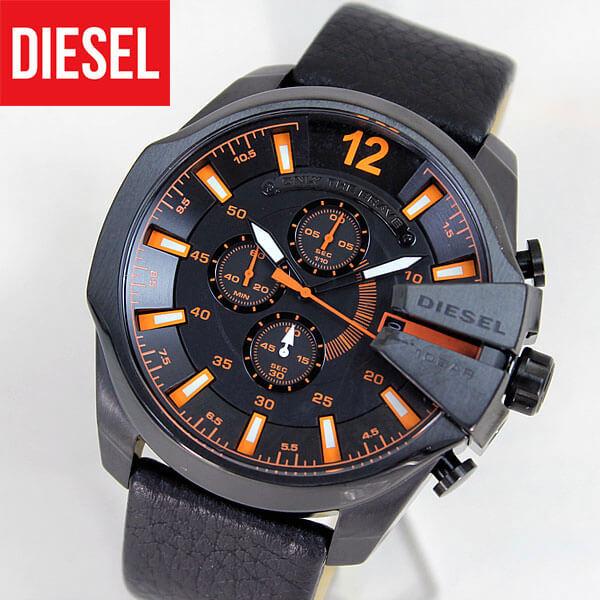 【訳あり】【送料無料】DZ4291 DIESEL ディーゼル 革ベルト レザー ベルト 海外モデル メンズ腕時計 watchクロノグラフ 時計 誕生日プレゼント 男性 ギフト