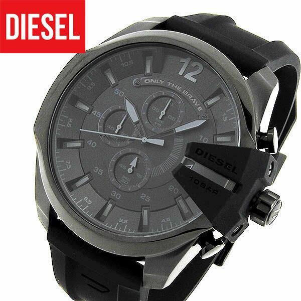 【送料無料】DIESEL ディーゼル DZ4378 海外モデル メンズ 腕時計 watch ウォッチ シリコン ラバー バンド ベルト クオーツ アナログ 黒 ブラック mega chief メガチーフ 誕生日プレゼント ギフト