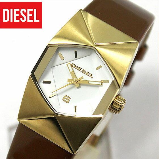 【送料無料】DIESEL ディーゼル ガールフラン GURLFRAN DZ5380海外モデル レディース 腕時計 watch時計カジュアル ブランド茶色 革ベルト レザー ベルト 金 ブラウン×ゴールド アナログ 秒針 誕生日プレゼント 女性 ギフト