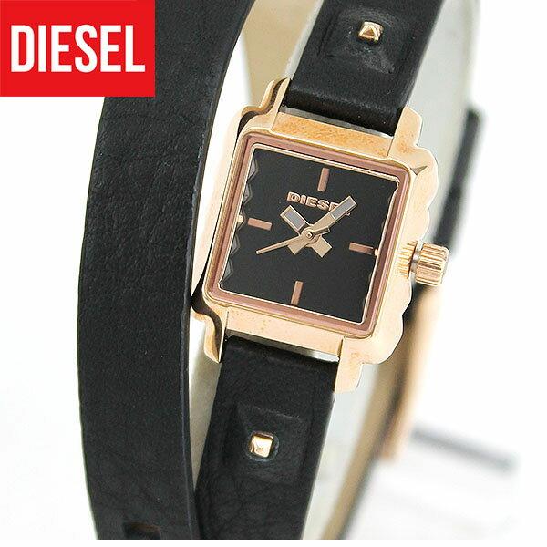 【送料無料】DIESEL ディーゼル URSULA ウルスラ DZ5480 海外モデル レディース 腕時計 ウォッチ 革ベルト レザー クオーツ アナログ 黒 ブラック 金 ピンクゴールド 2重巻き 誕生日プレゼント ギフト