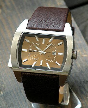 ディーゼル 時計 アナログ DIESEL 時計 おしゃれ ブランド DZ1114 メンズ 腕時計 watch DIESEL ディーゼル 文字板ブラウン 濃茶レザーバンド ベルト海外モデル 誕生日プレゼント 男性 ギフト 男性