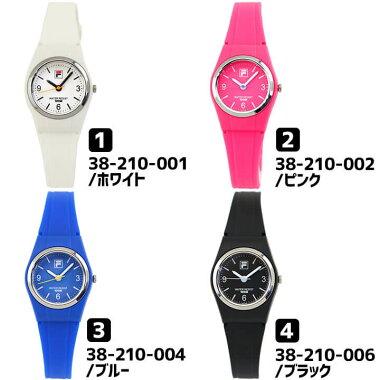 FILAフィラメンズ腕時計カジュアル黒ブラック青ブルーピンクホワイトラバーバンド白クリスマス誕生日プレゼント女性キッズギフト海外モデル