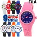 FILAフィラ腕時計レディースキッズ子供用ポリウレタンクオーツアナログ黒ブラック白ホワイト赤レッド青ネイビーピンク選べる9種類海外モデル