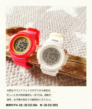 FILAフィラレディース腕時計キッズ子供用カジュアルレッド赤ホワイト白クリスマス誕生日プレゼント女性ギフト海外モデル