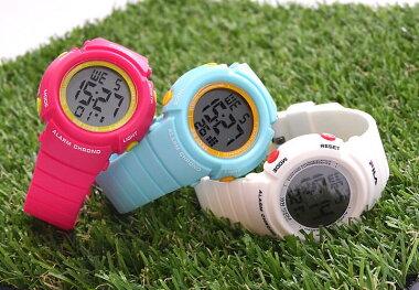 FILAフィラ時計レディース腕時計スポーツ10気圧防水キッズウォッチ子供女の子小学生デジタルカレンダーアラームライトお出かけ運動ランニングピンクホワイト白小学校誕生日女性ギフトプレゼント