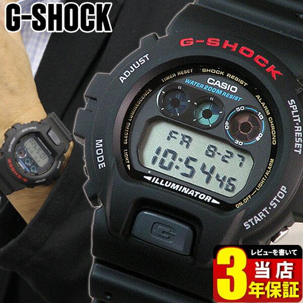 CASIO カシオ G-SHOCK Gショック ジーショック メンズ 腕時計 新品 時計 多機能 防水 DW-6900-1V 海外モデル デジタル 黒 ブラック スポーツ 誕生日プレゼント 男性 ギフト 商品到着後レビューを書いて3年保証