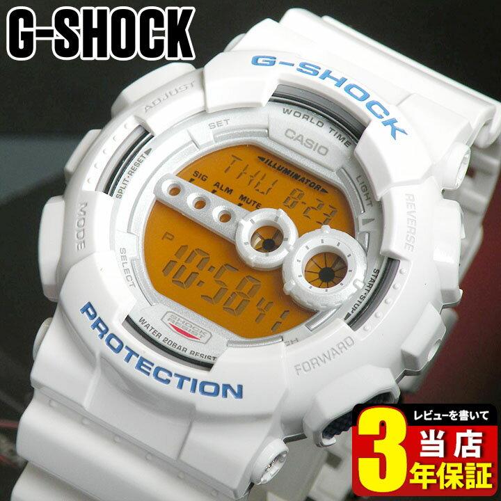 【BOX訳あり】 CASIO カシオ Gショック ジーショック G-SHOCK メンズ 腕時計 GD-100SC-7 白 ホワイト デジタル スポーツ 誕生日プレゼント 男性 ギフト 商品到着後レビューを書いて3年保証