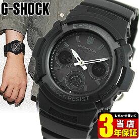 【BOX訳あり】G-SHOCK 電波 ソーラー アナログ 黒 ブラック CASIO カシオ Gショック アナデジ タフ ソーラー電波 時計 メンズ 腕時計 電波ソーラー 防水 AWG-M100B-1A 海外モデル フォーマル アウトレット