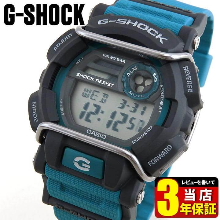 CASIO カシオ G-SHOCK Gショック ジーショック GD-400-2 海外モデル メンズ 腕時計 ウォッチ デジタル グレー 青 ブルースポーツ 商品到着後レビューを書いて3年保証 誕生日プレゼント 男性 卒業祝い 入学祝い ギフト