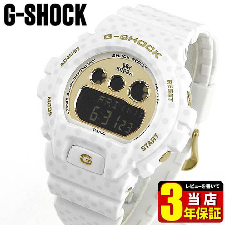 【BOX訳あり】 【送料無料】CASIO カシオ G-SHOCK Gショック ジーショック SUPRA コラボ スープラ GMD-S6900SP-7 海外モデル メンズ 腕時計 ウォッチ 多機能 クオーツ カジュアル デジタル 白 ホワイト 金 ゴールド 商品到着後レビューを書いて3年保証