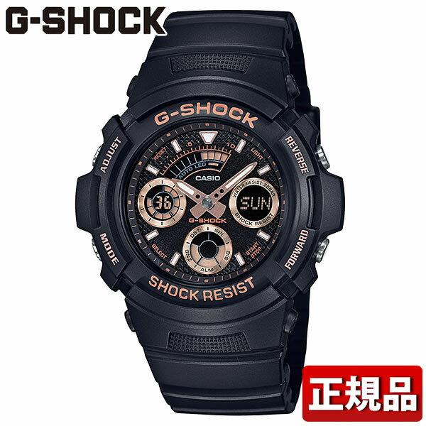 CASIO カシオ G-SHOCK Gショック ジーショック AW-591GBX-1A4JF メンズ 腕時計 ウレタン 多機能 クオーツ アナログ デジタル 黒 ブラック ローズゴールド 国内正規品 誕生日プレゼント 男性 ギフト