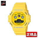 CASIO カシオ G-SHOCK Gショック ジーショック Hot Rock Sounds ホットロックサウンド DW-5900RS-9JF メンズ 腕時計 ウレタン 多機能 クオーツ デジタル 黄色 イエロー 国内正規品