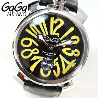 ★ 5010.12 S Gaga 米蘭 GAGAMILANO 男裝手錶手錶豪華人工 48 毫米人工海外模型