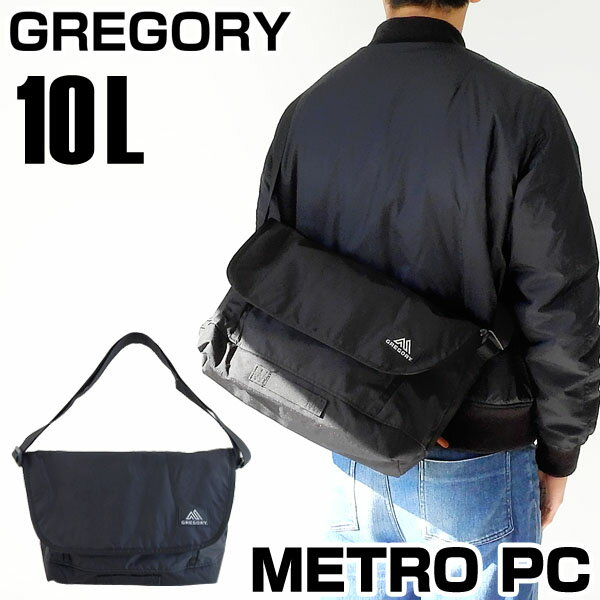 【送料無料】 GREGORY グレゴリー METRO PC メトロ MESSENGER メッセンジャーバッグ ショルダーバッグ メンズ カジュアル 黒 ブラック 65113-1041 海外モデル 誕生日プレゼント 男性 父の日ギフト