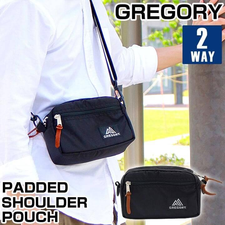 【送料無料】 GREGORY グレゴリー メンズ レディース バッグ 鞄 ショルダーバッグ パデッドショルダーポーチS ウエストポーチ 斜めがけ 小さめ コンパクト Sサイズ ブラック 黒