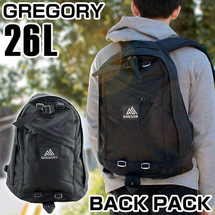 【送料無料】GREGORY グレゴリー 65164-0440 メンズ バッグ 黒 ブラック デイパック リュック バックパック 大容量 メンズ 通学 通勤 鞄 カバン 誕生日プレゼント 男性 ギフト 就職祝い 入学式