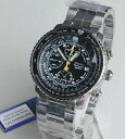 ★送料無料SEIKOセイコー日本未発売 航空計算尺つき・20気圧防水 SNA411P1(ブラック)[日本未発売]メンズ 腕時計 時計逆輸入 誕生日プレゼント ギフト