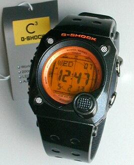 凱西歐 G 休克橙色液晶屏 / 黑 G ショックスナイパー g-8000B-4 V 指示燈配備男士手錶男士手錶腕表