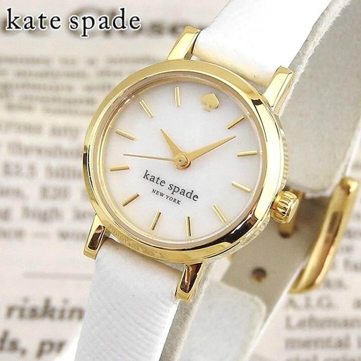 【送料無料】KateSpade ケイトスペード ケートスペード 1YRU0422 NEW YORK ニューヨーク 海外モデル レディース 腕時計 ウォッチ 革ベルト レザー クオーツ アナログ 白 ホワイト 誕生日プレゼント 女性 ギフト