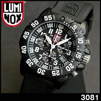 【送料無料】LUMINOX ルミノックス3081 クロノグラフ ブラック ミリタリー メンズ 腕時計